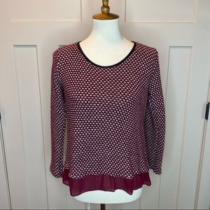 LOLA Made In Italy Bow back sweater blouse medium